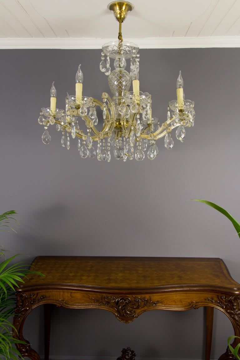 Maria Theresa Style Eight-Light Crystal Chandelier For Sale 12