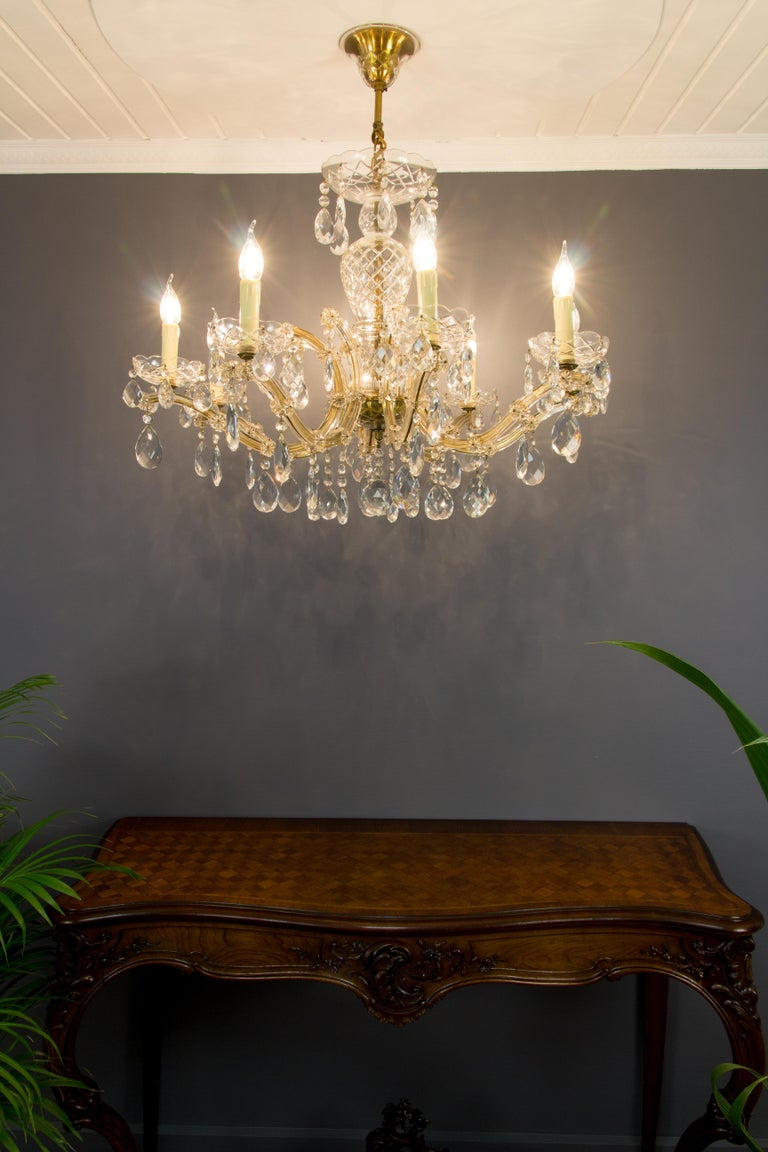 Maria Theresa Style Eight-Light Crystal Chandelier For Sale 13
