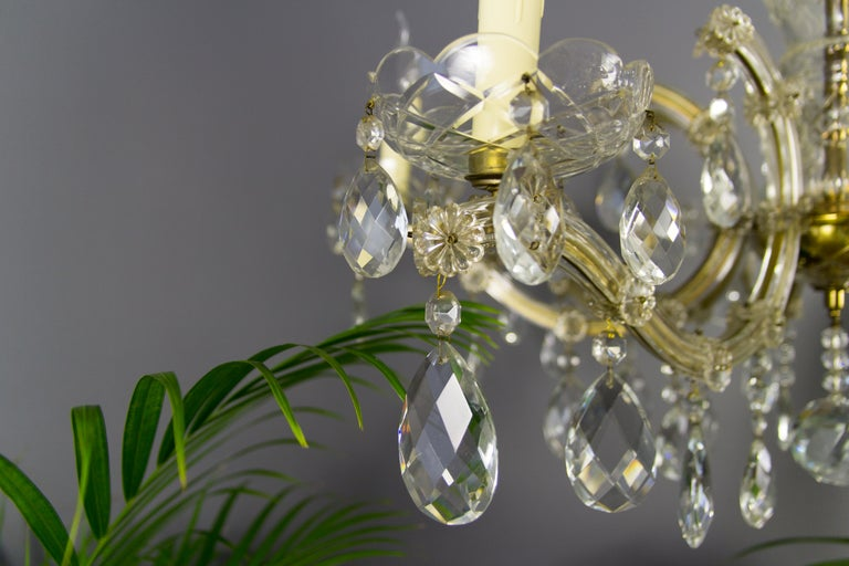 Maria Theresa Style Eight-Light Crystal Chandelier For Sale 2