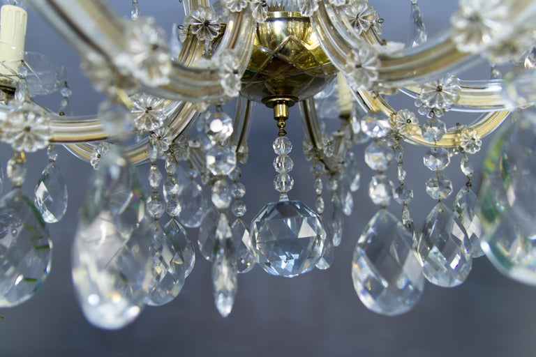 Maria Theresa Style Eight-Light Crystal Chandelier For Sale 3