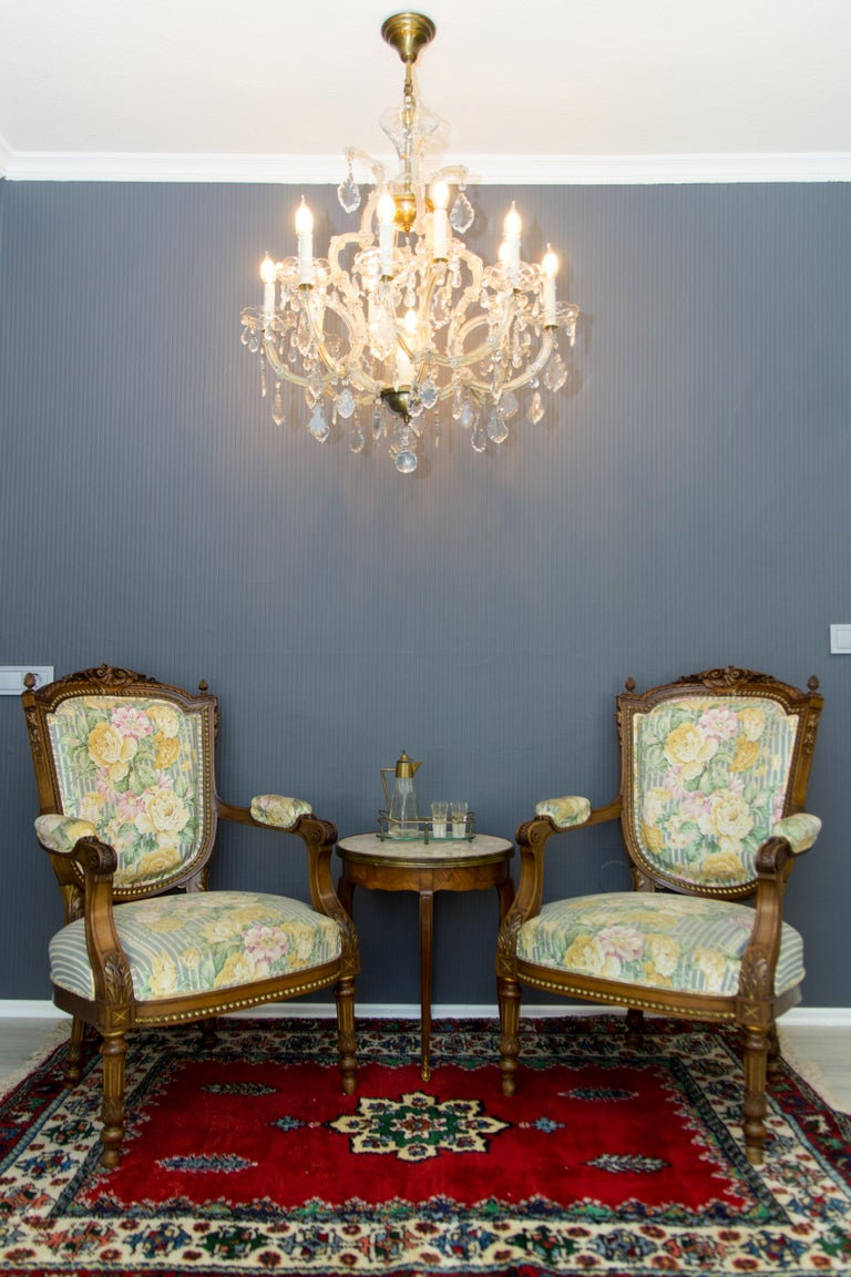 Maria Theresa Style Thirteen-Light Crystal Chandelier, 1950s For Sale 13