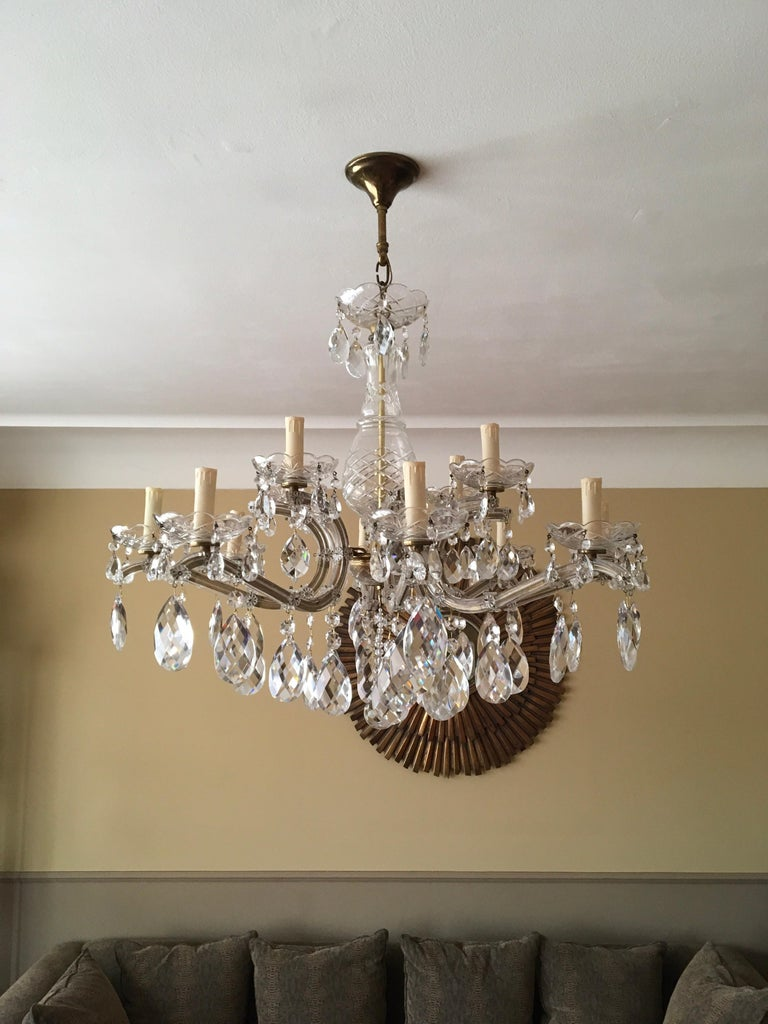 Maria Theresa Style Vintage 12 Lights Crystal Chandelier For Sale 9