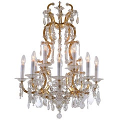 Maria Theresien Style Crystal Chandelier with rich prism hanging