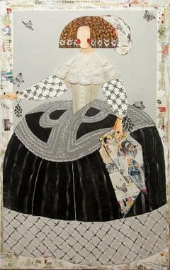 """Mariana Regina"" Portrait of Queen Mariana of Austria by Maria Torroba 63"" x 39"""