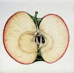 Apple I - XXI Century, Contemporary Figurative Etching, Fruit still life