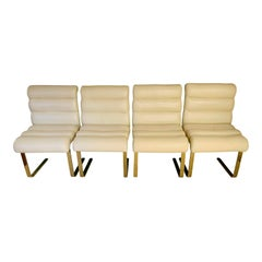 """Mariani for Pace Collection """"Laguna"""" Cantilever Dining Chairs, Set of 4"""