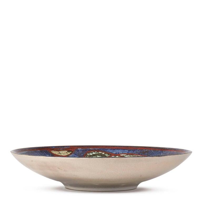 Glazed Marianne Starck Michael Andersen Art Pottery Cockerel Dish For Sale