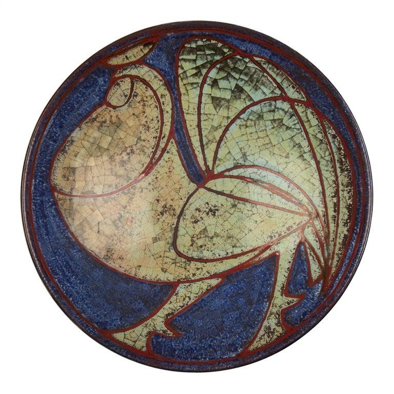 Marianne Starck Michael Andersen Art Pottery Cockerel Dish For Sale