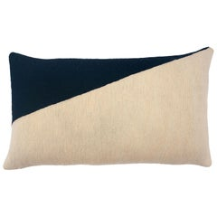 Marianne Triangle Black Hand Embroidered Modern Geometric Throw Pillow Cover