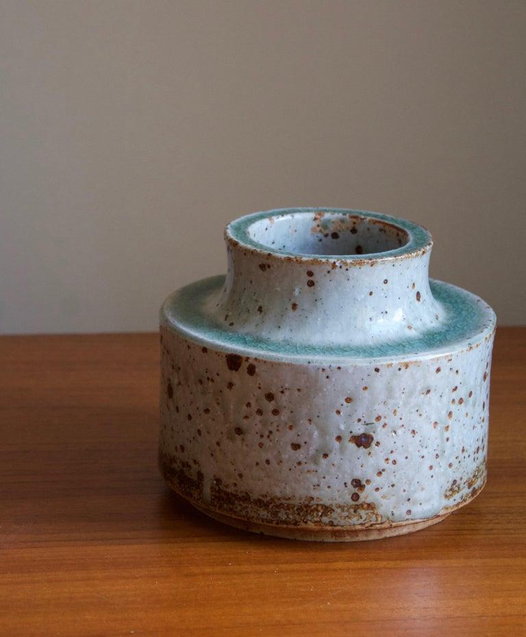 Scandinavian Modern Marianne Westman, Vase, Glazed firesand, Rörstands, Sweden, 1950s For Sale