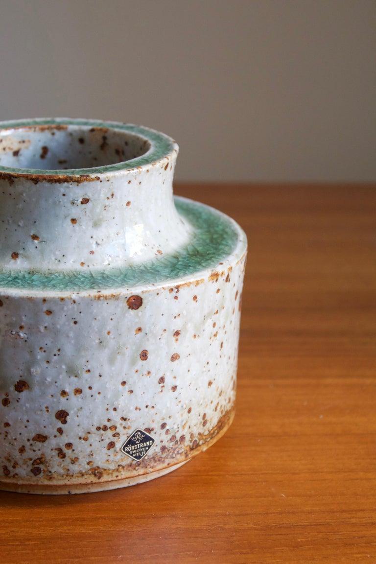 Swedish Marianne Westman, Vase, Glazed firesand, Rörstands, Sweden, 1950s For Sale