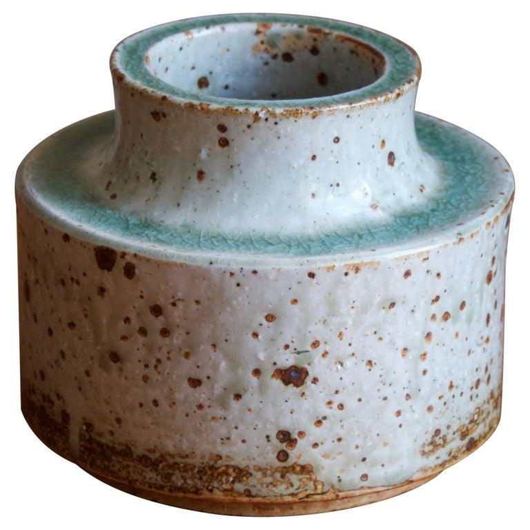 Marianne Westman, Vase, Glazed firesand, Rörstands, Sweden, 1950s For Sale
