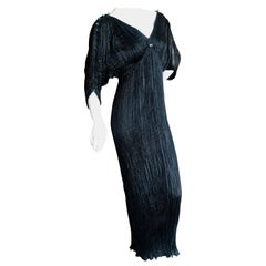 Mariano Fortuny Attributed Black Delphos Dress