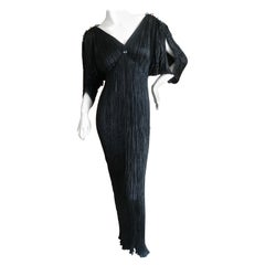 Mariano Fortuny Black Delphos Dress