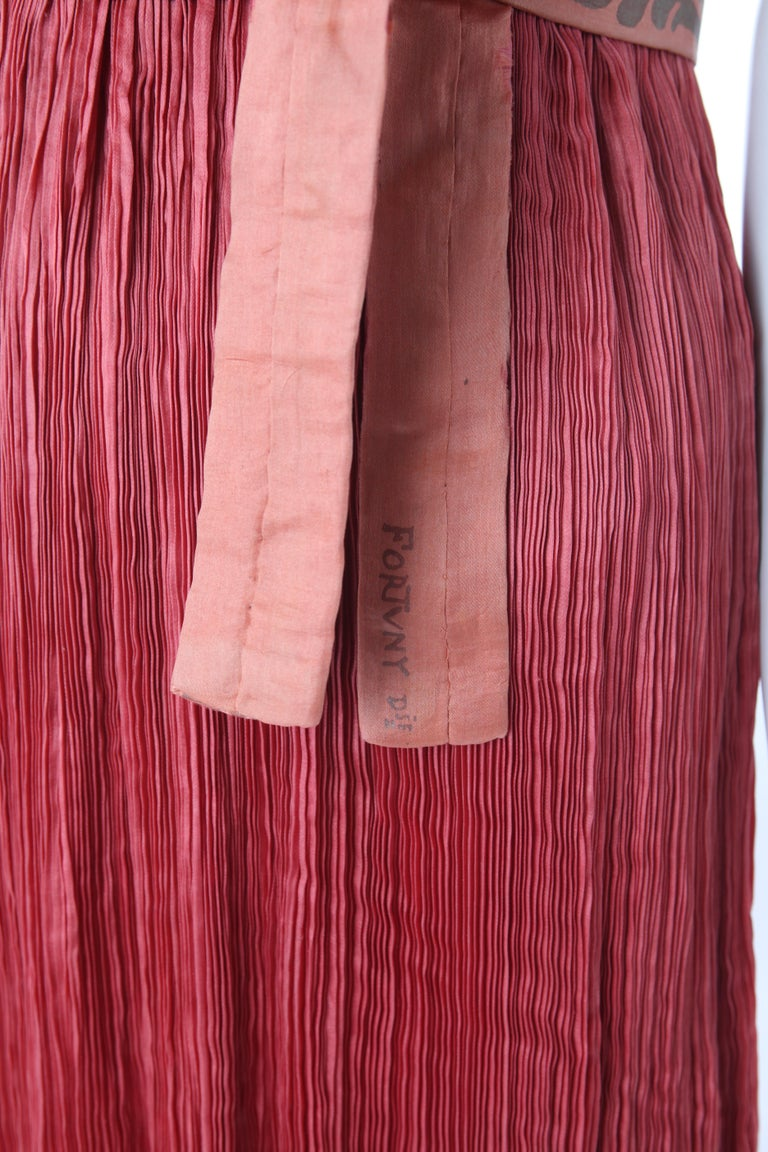 Women's Mariano Fortuny Pleated Coral Silk