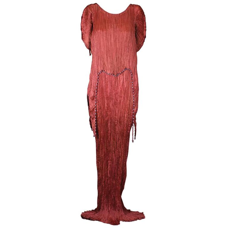 Mariano  Fortuny Sienna Peplos Gown For Sale