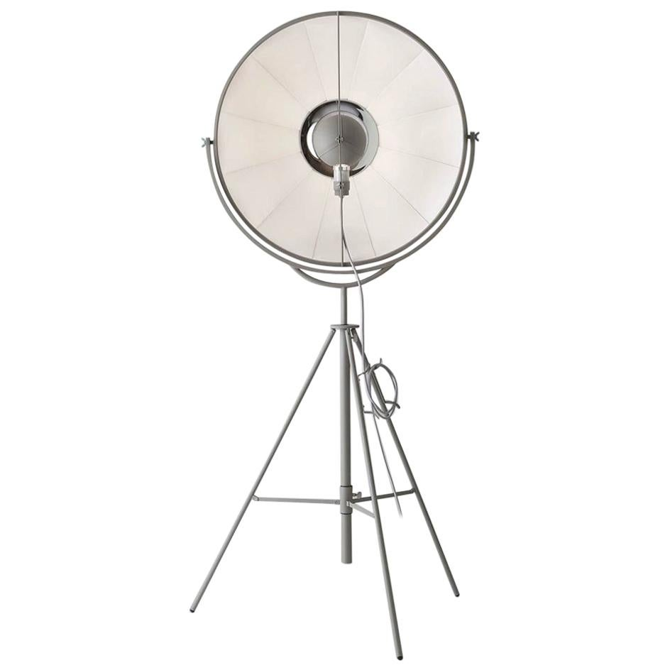 Mariano Fortuny y Madrazo 1907 Moda, Gray, Titanium Modern Floor Lamp, Pallucco