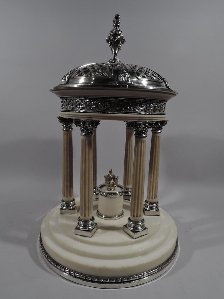 Neoclassical Revival Marie Antoinette's Temple d'Amour Centerpiece with Mirrored Plateau For Sale