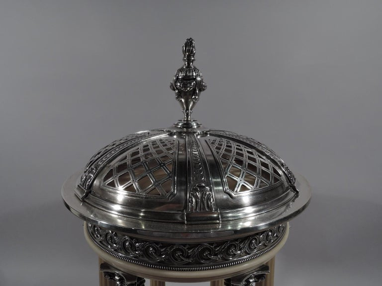French Marie Antoinette's Temple d'Amour Centerpiece with Mirrored Plateau For Sale