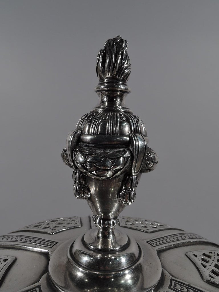 19th Century Marie Antoinette's Temple d'Amour Centerpiece with Mirrored Plateau For Sale