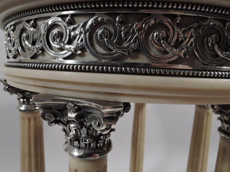 Silver Marie Antoinette's Temple d'Amour Centerpiece with Mirrored Plateau For Sale