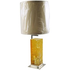 Marie-Claude de Fouquieres for Ombre et Lumiere Fractal Resin Table Lamp