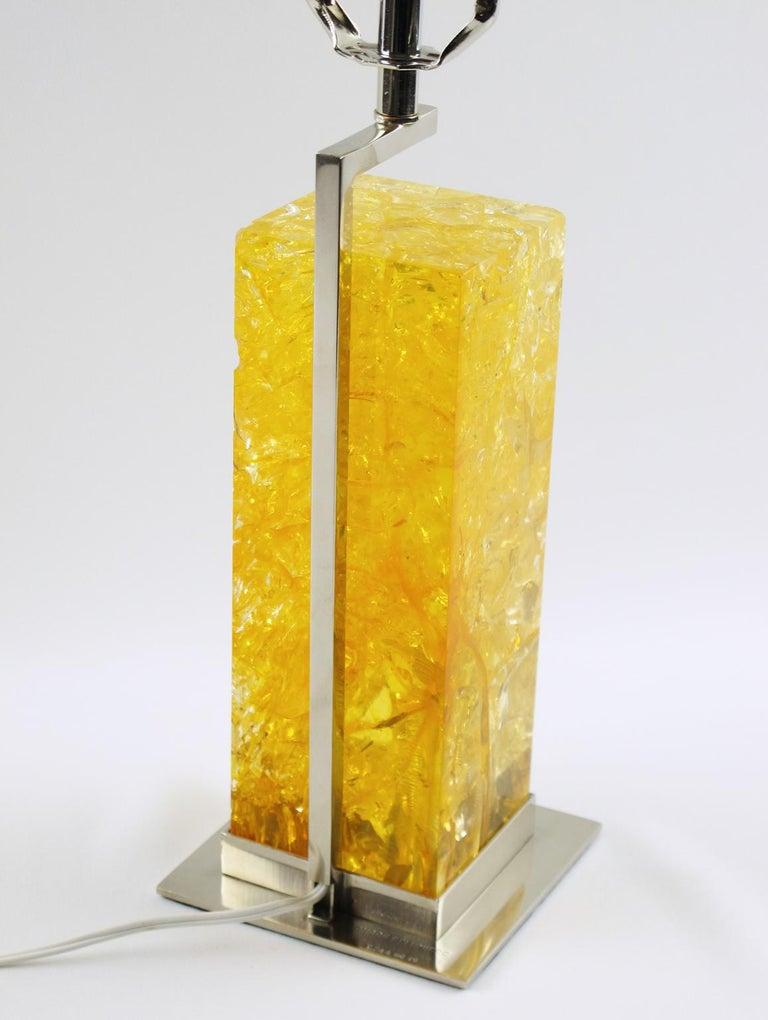 Late 20th Century Marie-Claude de Fouquieres Fractal Resin Table Lamp For Sale