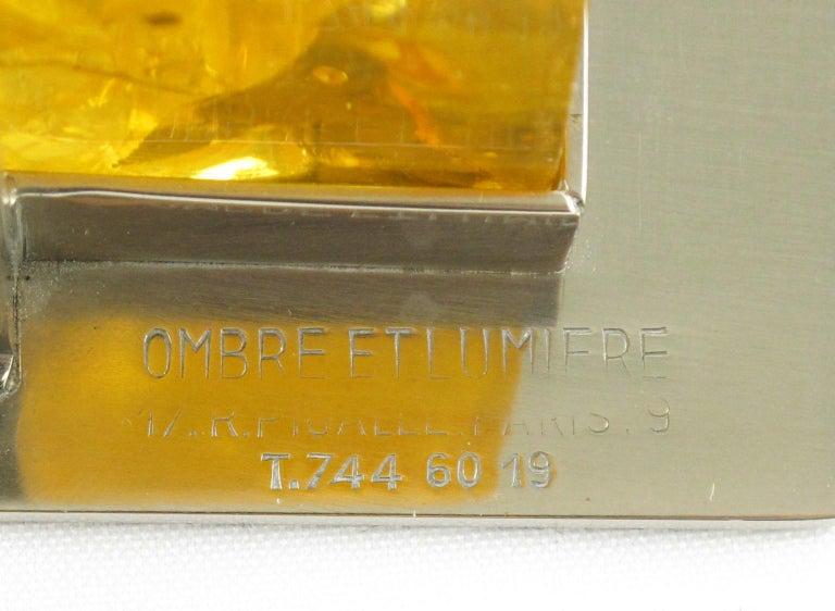 Metal Marie-Claude de Fouquieres Fractal Resin Table Lamp For Sale