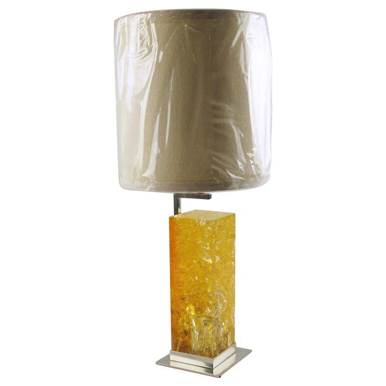 Marie-Claude de Fouquieres Fractal Resin Table Lamp For Sale