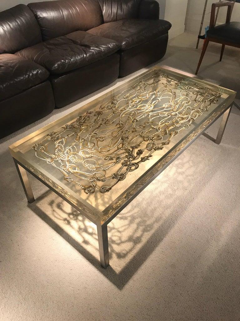 Marie Claude de Fouquieres Resin Table For Sale 8