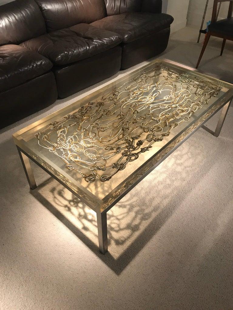 Marie Claude de Fouquieres Resin Table For Sale 9