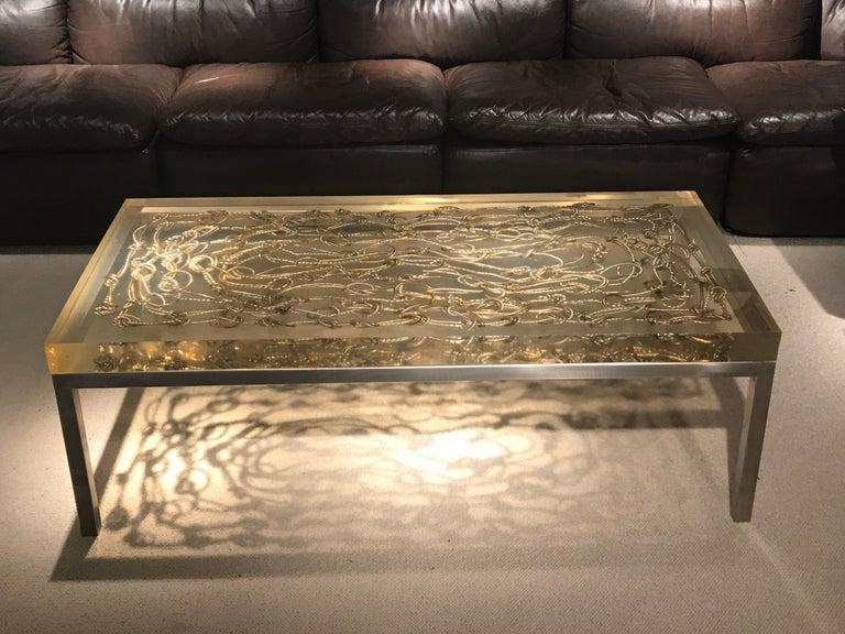 Marie Claude de Fouquieres Resin Table For Sale 10