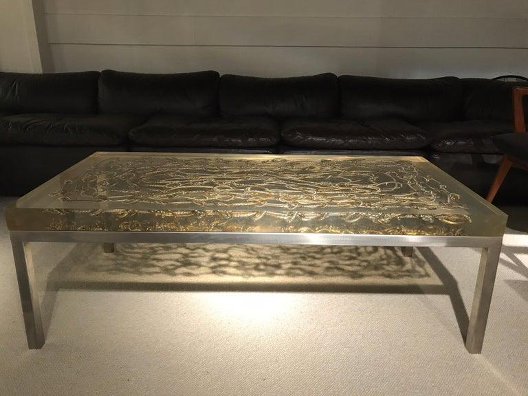 Mid-Century Modern Marie Claude de Fouquieres Resin Table For Sale