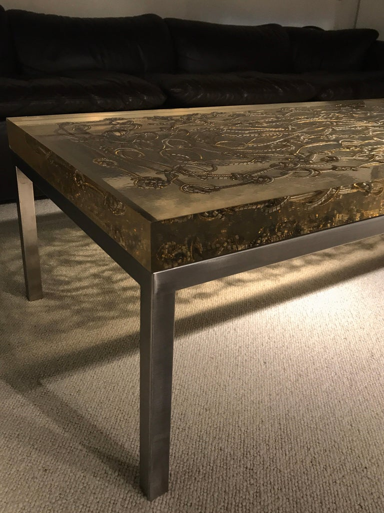Marie Claude de Fouquieres Resin Table In Good Condition For Sale In Saint-Ouen, FR