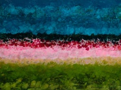 Begur, Colorful, Abstract, Landscape, Blue, Pink, Green, gloss finish, 30 x 40