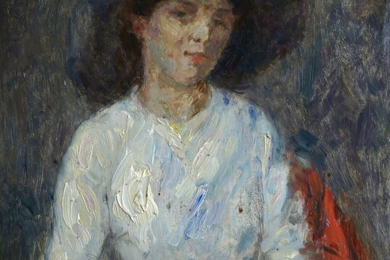 Portrait of Nelly - Painting by Marie Duhem