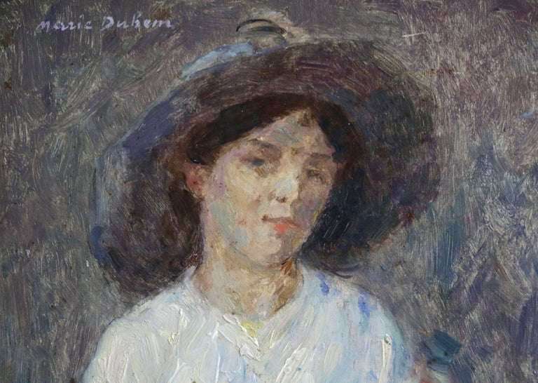 Portrait of Nelly - Impressionist Painting by Marie Duhem