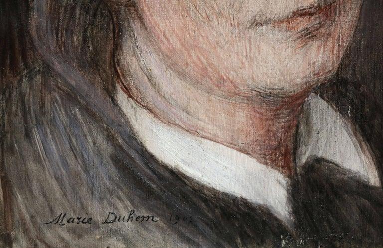 Self Portrait - Impressionist Painting by Marie Duhem