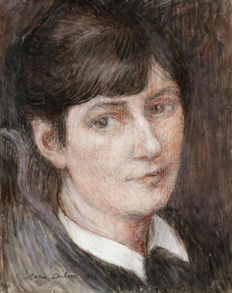 Marie Duhem Portrait Painting - Self Portrait