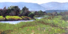 Lower Roaring Fork (river, reflections, purple mountains, lush)