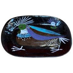 Marie Helene Bataille, Ceramic Dish, Atelier de Dour, circa 1960
