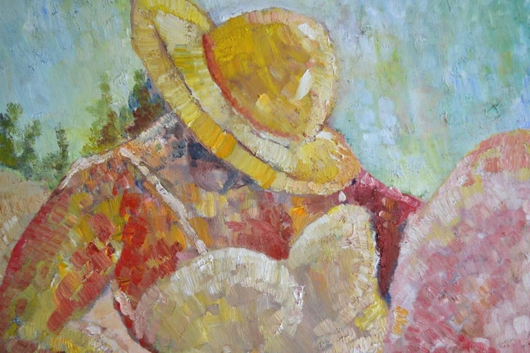 Riviera. Contemporary Figurative Oil Painting For Sale 1