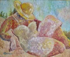 """Riviera"".  Contemporary Figurative Oil Painting"