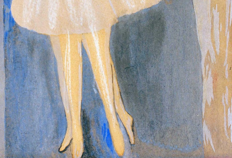 Models - Original Watercolor and Ink Drawing by Marie Laurencin - 1920 ca. For Sale 3