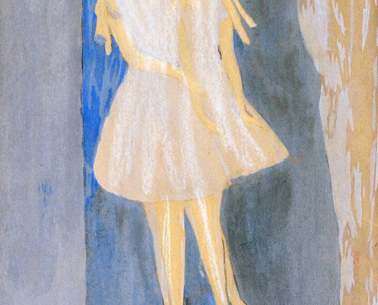 Models - Original Watercolor and Ink Drawing by Marie Laurencin - 1920 ca. For Sale 4