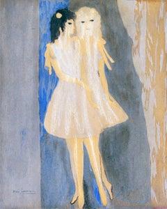 Models - Original Watercolor and Ink Drawing by Marie Laurencin - 1920 ca.