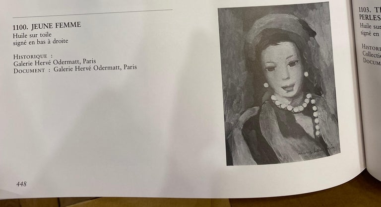 Marie Laurencin Portrait of a Young Woman Oil on Canvas Signed Lower Left - Expressionist Painting by Marie Laurencin