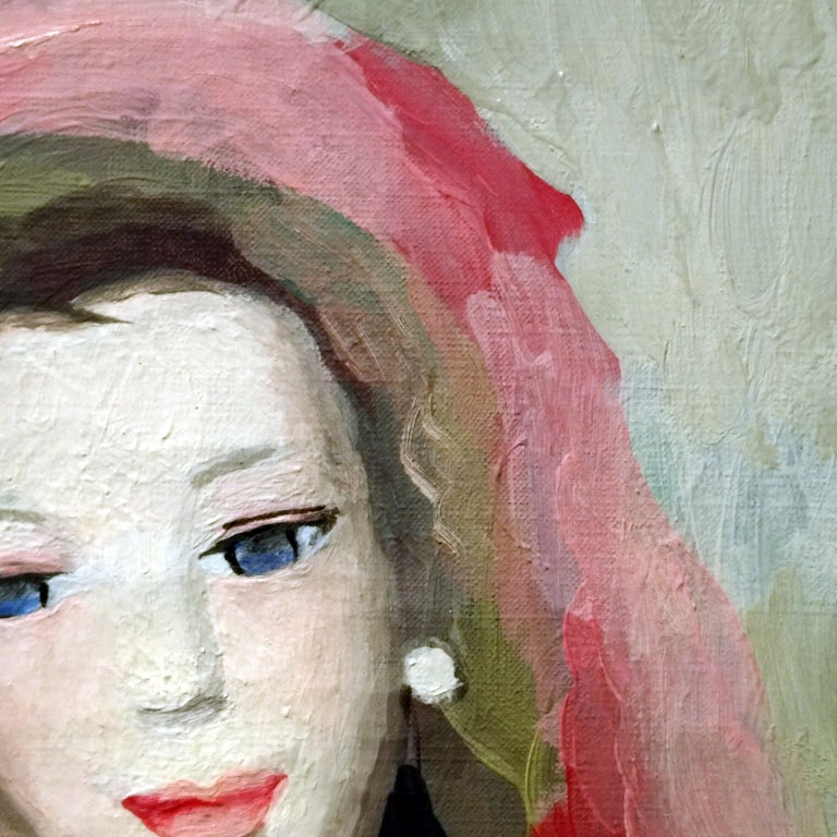 Marie Laurencin Portrait of a Young Woman Oil on Canvas Signed Lower Left For Sale 2