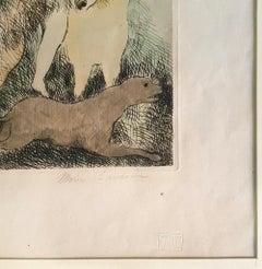 La Promenade à Cheval  - Original Etching by Marie Laurencin - 1928