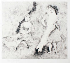 Love and Music - Original Etching by M- Laurencin - 1920s